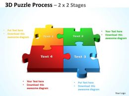 3D Puzzle Process 2 X 2 Stages