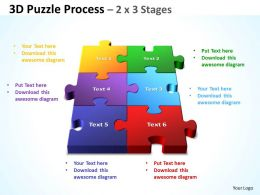 3D Puzzle Process 2 X 3 Stages
