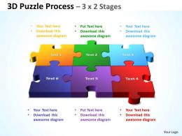 3D Puzzle Process 3 X 2 Stages