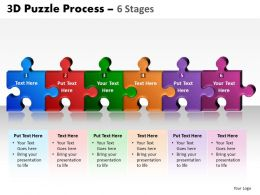 3D Puzzle Process 6 Stages 5