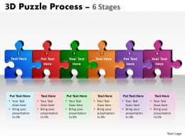 3D Puzzle Process 6 Stages