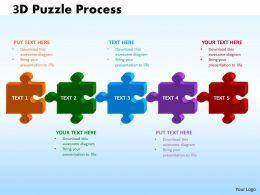 3D Puzzle Process