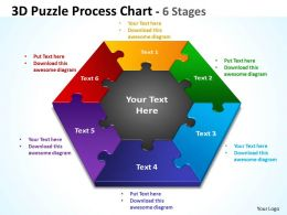 3D Puzzle Process diagram Chart 1
