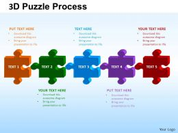 3D Puzzle Process Powerpoint Slides And ppt Templates 0412