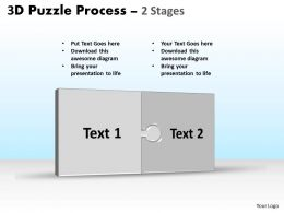 3D Puzzle Process Stages 2