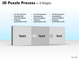 3D Puzzle Process Stages 3