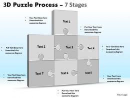 3D Puzzle Process Stages 7