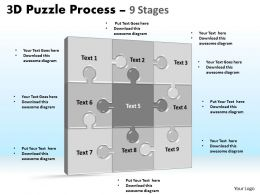 3D Puzzle Process Stages 9
