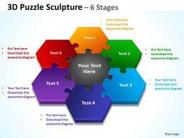 3D Puzzle Sculpture 6 diagram Stages 3