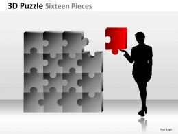 3D Puzzle Sixteen Pieces ppt 6