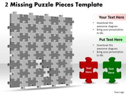 3D Puzzle Together With Missing Pieces Template