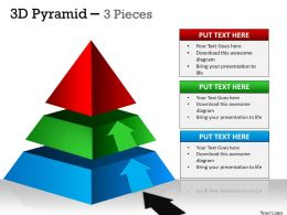 3D Pyramid 3 Independent Stages
