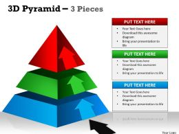 3D Pyramid 3 Individual Stages
