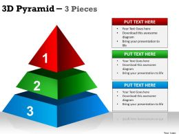 3D Pyramid 3 Pieces ppt 1