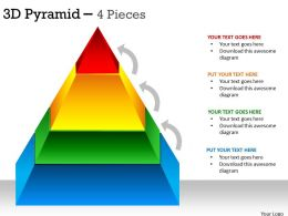 3D Pyramid 4 Levels For Sales