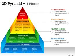 3D Pyramid 4 Pieces Diagram