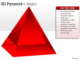 3D Pyramid Diagram