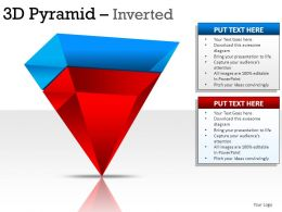 3d Pyramid Inverted Powerpoint Presentation Slides