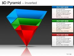 3D Pyramid Inverted Powerpoint Presentation Slides DB