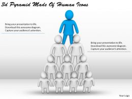 3d Pyramid Made Of Human Icons Ppt Graphics Icons Powerpoint