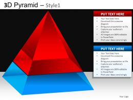 3D Pyramid Style1 Powerpoint Presentation Slides DB