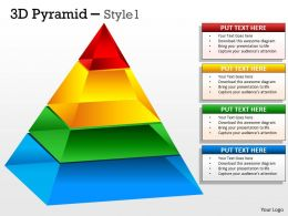 3D Pyramid With 5 Stages
