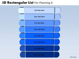 3D Rectangular List For Planning 4 Powerpoint Slides And Ppt Templates DB