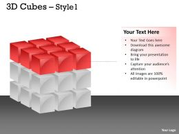 3D red Cubes Style 1 PPT 15