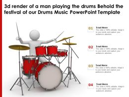 3d Render Of A Man Playing The Drums Behold The Festival Of Our Drums Music Template