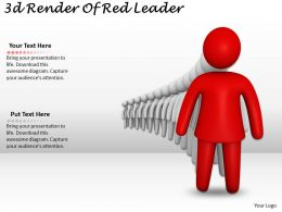 3d Render Of Red Leader Ppt Graphics Icons Powerpoint