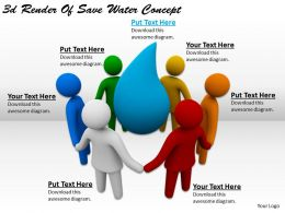 3d Render Of Save Water Concept Ppt Graphics Icons Powerpoint