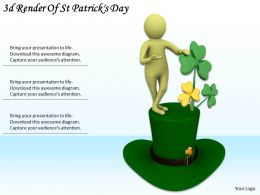 3d Render Of St Patrickss Day Ppt Graphics Icons Powerpoint