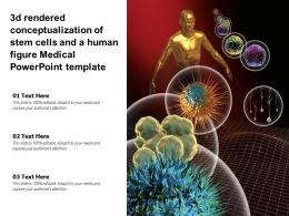 3d Rendered Conceptualization Of Stem Cells And A Human Figure Medical Powerpoint Template