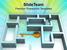 3d_rendered_labyrinth_and_the_key_powerpoint_templates_ppt_themes_and_graphics_0213_Slide01