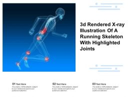 3d Rendered X Ray Illustration Of A Running Skeleton With Highlighted Joints