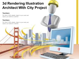 3d Rendering Illustration Architect With City Project