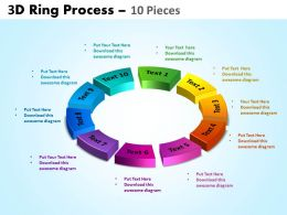 3D ring process 10 pieces powerpoint slides and ppt templates 0412