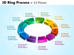 3D ring process 11 pieces powerpoint slides and ppt templates 0412