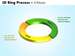 3D ring process 2 pieces powerpoint slides and ppt templates 0412