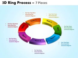 3D ring process 7 pieces powerpoint slides and ppt templates 0412