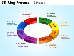 3D ring process 8 pieces powerpoint slides and ppt templates 0412