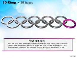 3D Rings 10 Stages Powerpoint Slides And Ppt Templates 0412