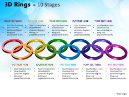 3D Rings 10 Stages Powerpoint Templates 1