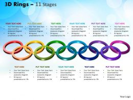 3D Rings 11 Stages Powerpoint Slides And Ppt Templates 0412