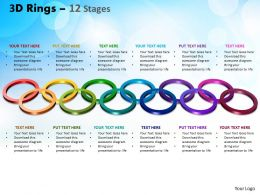 3D Rings 12 Stages Powerpoint Slides And Ppt Templates 0412