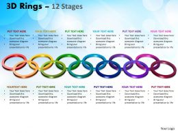 3D Rings 12 Stages Powerpoint Templates 20