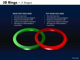 3D Rings 2 Stages Powerpoint Slides And Ppt Templates 0412