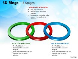 3D Rings 3 Stages Powerpoint Ppt Templates 4
