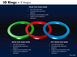 3D Rings 3 Stages Powerpoint Slides And Ppt Templates 0412