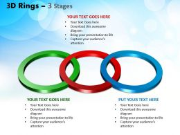 3D Rings 3 Stages Powerpoint Slides And Ppt Templates